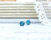 Teal Blue Studs Small Stud Earrings 4mm Studs Blue Stud Earrings Surgical Steel Tiny Blue Earrings