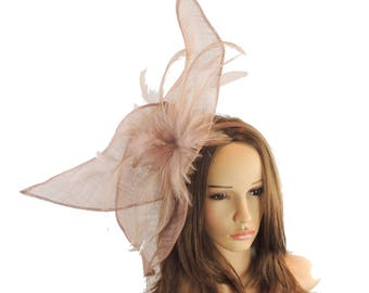 Viktoria Dark Mink Fascinator Hat for Weddings, Occasions and KY Derby on a Headband( 40 colours avail)