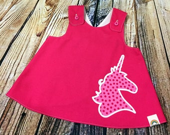"Little Girl Dress ""Dixie"" Crossover back Pinafore dress 9-12 month // Baby Shower Gift // Handmade Dress // Gifts for Baby Girls"