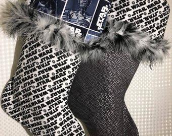 Black & White Star Wars Stockings