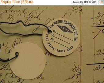 ON SALE Antique Hardware Co. Est. 1862 String Tags 6pcs