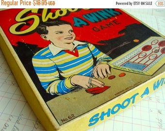 ON SALE Antique Box Game Shoot A Wink Wonderful Graphics