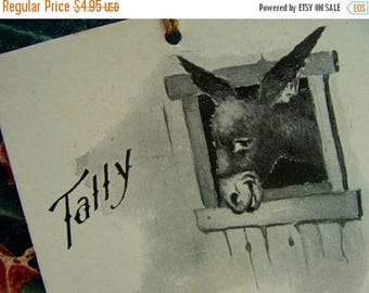 ONSALE Antique 1902 Tally Place Card Adorable Kitsch Donkey Horse