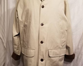 Mens XL tan LL Bean barn coat, 52