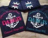 Custom cruise t-shirts. You choose colors. Size 2T to adult 5X. Family cruise shirts Group cruise shirts Change wording to suit