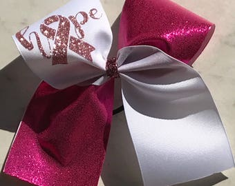 HOPE Breast Cancer Awareness- Hair bow