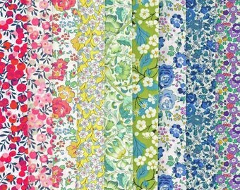 Liberty Fabric Tana Lawn 9 Fat Quarters Rainbow Selection 737