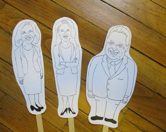 PC Leadership Race Paper Puppets