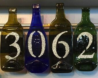 Wine Bottle Address Sign / Exit Sign / Welcome Sign - Custom