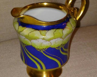 Trees, Art Deco Era Elegant Style Creamer Made by the White Co in Chicago at Nestbox Vintage