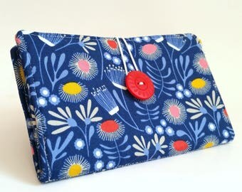 Tampon and Pad Holder in Organic Cotton by Cloud 9 Handmade Privacy Wallet - Summer
