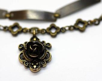 Bronze Rose Choker