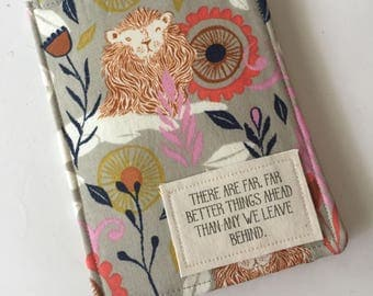 Passport Wallet,  c.s. Lewis quote, lions,  Passport Case,  Passport Cover, Travel Accessory, gift for traveler, gift for woman,