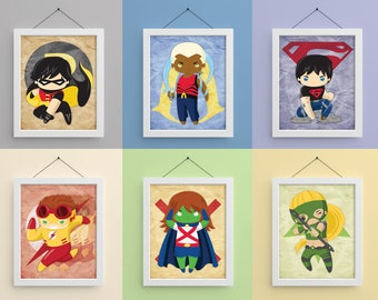 Young Justice 8x10 Prints