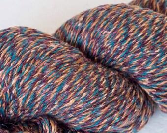 Silk knitting yarn, wool yarn, tweed wool, fingering yarn, tweed yarn, 100g skein,  knitting, crochet, knitting materials, yarn for sale