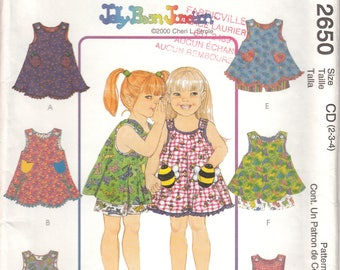 McCall's 2650 Pattern for girl's dress or top, uncut