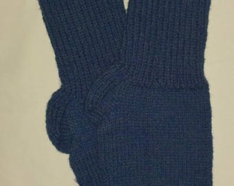 New Warm and Soft Hand Knit 100% Pure Wool Socks (11.0 inches length)