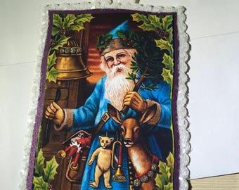 Sale Half Off Santa Claus Greeting Card / Paper Ornament