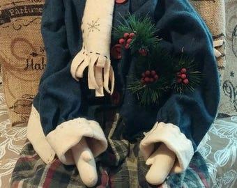 super sale holiday rag doll
