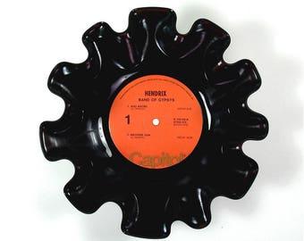 Jimi Hendrix Vinyl Record Bowl Vintage Retro LP Album Rare 1970 (Band of Gypsys) Red Label