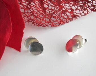 Round & Round Studs: Sterling Silver