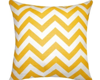 Premier Prints Zig Zag Yellow Gold Chevron Outdoor Decorative Pillow Free Shipping