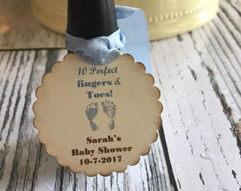 Nail Polish Favor Tags, Baby Shower Favor Tag, Boy or Girl Nail Polish Favor Tags Personalized Baby Shower Tags