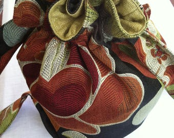Luxurious Light Weight Brocade and Silk Floral Backpack by Barneche/Stephanie Barnes