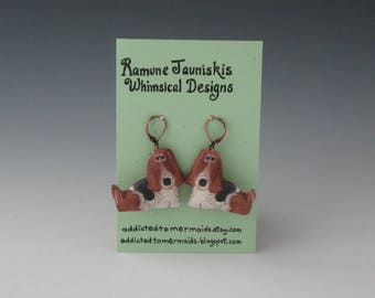 Basset Hounds, DOGS EARRINGS. dogs, jewelry. earrings dogs, Dogs earrings