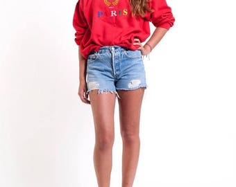 40% OFF CLEARANCE SALE The Vintage J'adore Paris Crewneck Sweatshirt
