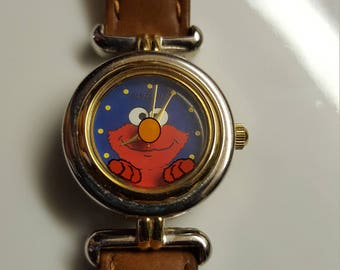 Fantasma Sesame Street Elmo Face  Watch Excellent Working Condition Vintage WristWatch Excellent condition