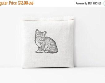 SALE Kitten Lavender Sachet, Cat Decor, Teen Girl Stocking Stuffer, Cat Lover Gift