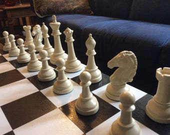 """MADE 2 ORDER]> 7"""" King> Cavaliers Staunton classic chess set. Free Shipping to the USA."""
