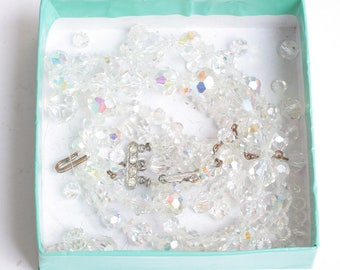 AB Crystal Beads and Faceted Crystal Beads for Jewelry Making or Crafting