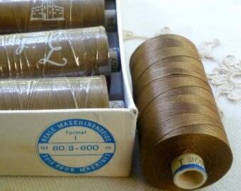 600 METER Spools Vintage Swiss Quality spun silk thread 60/3