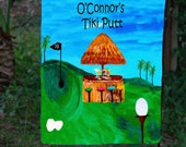 Special order ' O'Connor's Tiki Putt Golf  Garden or Yard Flag from art