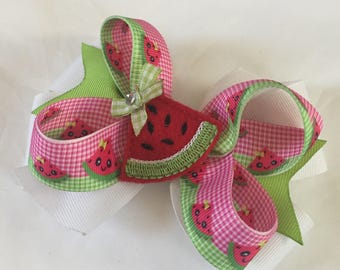 Spring summer  girls boutique  hair bow  seasonal  holiday