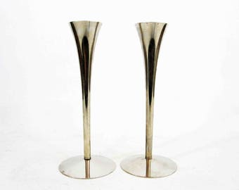Vintage Mid Century Modern AS Solingen Germany Candlestick Holders. Circa 1960's.