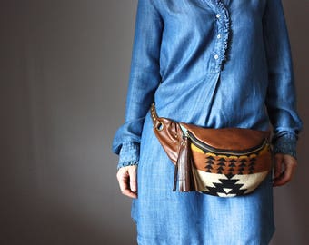 Belt Bag, Leather hip bag, Crossbody bag, Fanny Pack, Hip Bag, leather Bag, Festival Bag, boho , Hands Free Bag