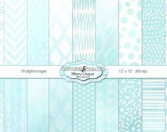 Tiffany's  Aqua Mega 18 Paper Pack