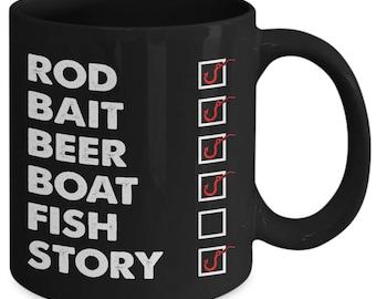 Funny Fishing Fish Checklist Coffee Mug