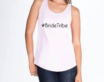 Hashtag Bride Tribe Tank - #BrideTribe - Bridal Racerback Tank Top, Bachelorette Party Shirts, Bachelorette Party Tanks, Bridesmaid gift