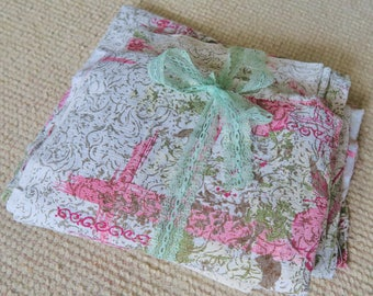 Lot vintage BARKCLOTH, 1950s crafting fabric, floral barkcloth, retro crafts,  projects, pillows and more