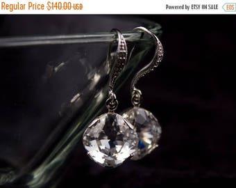 ON SALE Bridal Earrings Set of 7 Crystal and Rhinestone Wedding Earrings Margot