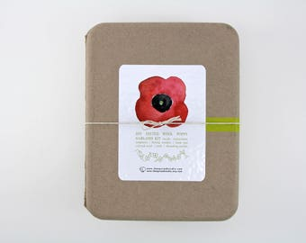 DIY Felted Wool Poppy Flower Garland Kit, DIY Felting Kit