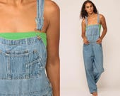 Bib Overalls 90s Denim GRUNGE Pants Lee Baggy Dungarees Long Jean Pants 1990s Boyfriend Suspender Hipster Vintage Carpenter Large