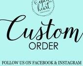 Custom Wall Decal Order for J VDL