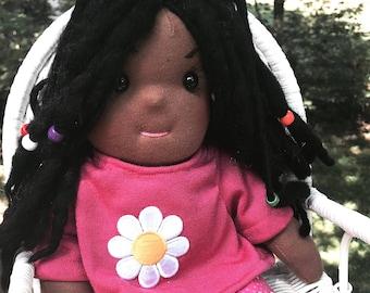 "Waldof-Inspired 12"" Soft Rag Doll"