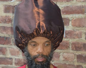 Men Brown  Rain Hat - Protect Hair From The Rain-  For Her - Select your hair length