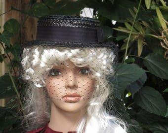 1940's Clover Lane Straw Women's  Hat